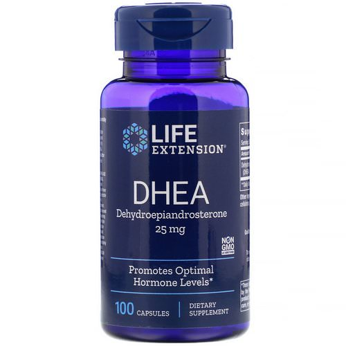 Life Extension, DHEA, 25 mg, 100 Capsules Review