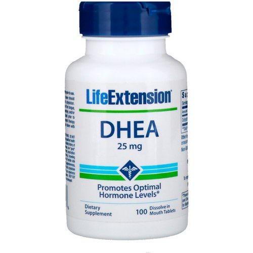 Life Extension, DHEA, 25 mg, 100 Dissolve in Mouth Tablets Review