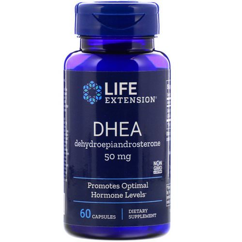 Life Extension, DHEA, 50 mg, 60 Capsules Review