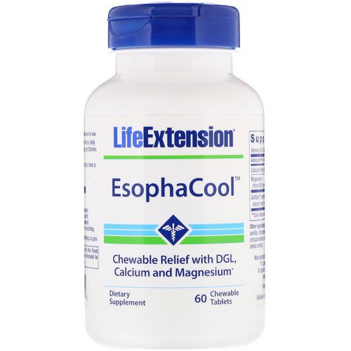 Life Extension, EsophaCool, 60 Chewable Tablets Review
