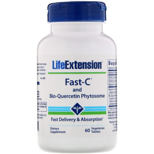Life Extension, Fast-C and Bio-Quercetin Phytosome, 60 Vegetarian Tablets Review