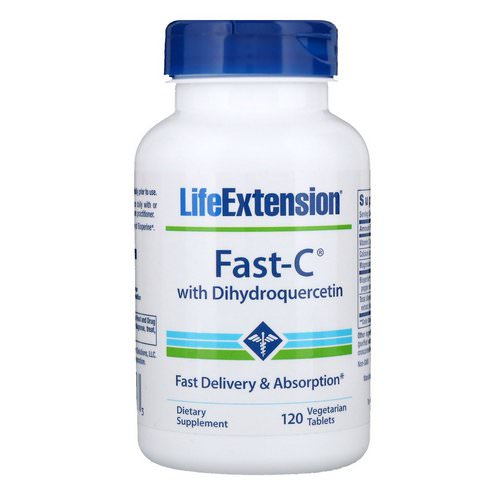Life Extension, Fast-C with Dihydroquercetin, 120 Vegetarian Tablets Review