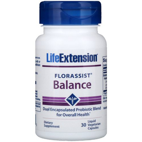 Life Extension, Florassist Balance, 30 Liquid Vegetarian Capsules Review