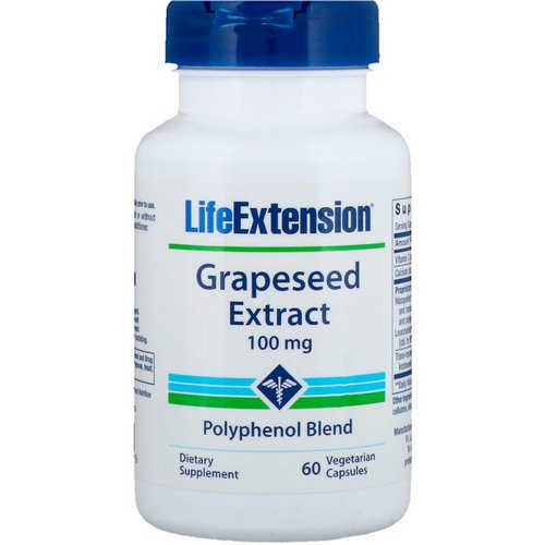 Life Extension, Grapeseed Extract, 100 mg, 60 Vegetarian Capsules Review