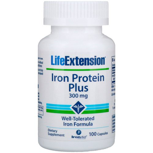 Life Extension, Iron Protein Plus, 300 mg, 100 Capsules Review