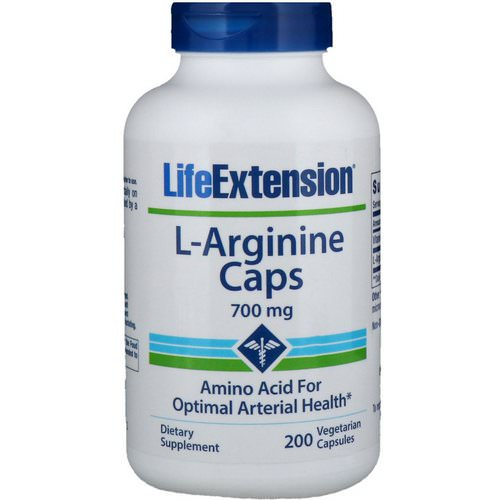 Life Extension, L-Arginine Caps, 700 mg, 200 Vegetarian Capsules Review