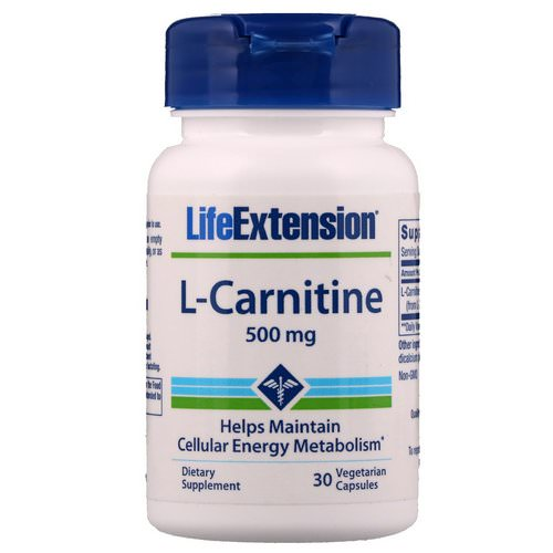 Life Extension, L-Carnitine, 500 mg, 30 Vegetarian Capsules Review