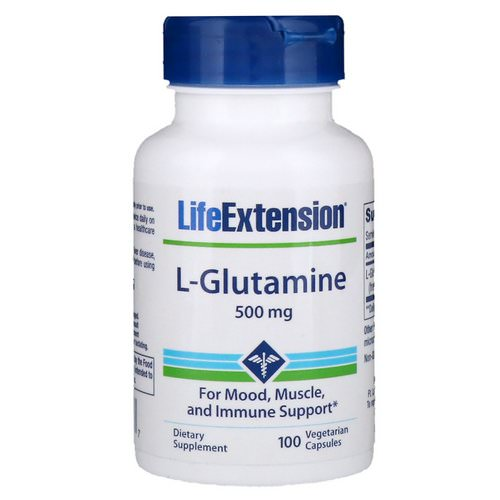 Life Extension, L-Glutamine, 500 mg, 100 Vegetarian Capsules Review