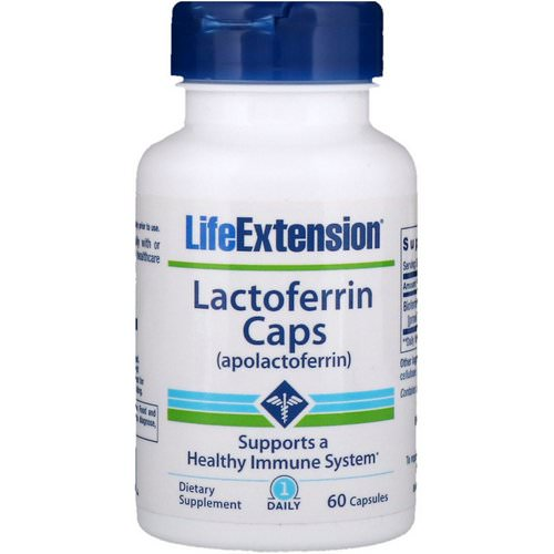 Life Extension, Lactoferrin Caps, 60 Capsules Review