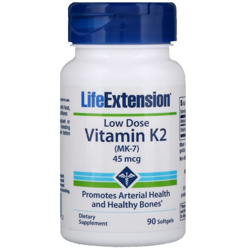 Life Extension, Low Dose Vitamin K2 (MK-7), 45 mcg, 90 Softgels Review
