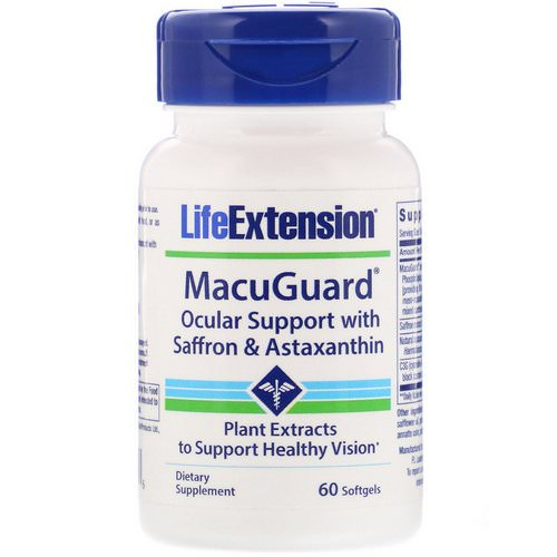 Life Extension, MacuGuard, Ocular Support with Saffron & Astaxanthin, 60 Softgels Review