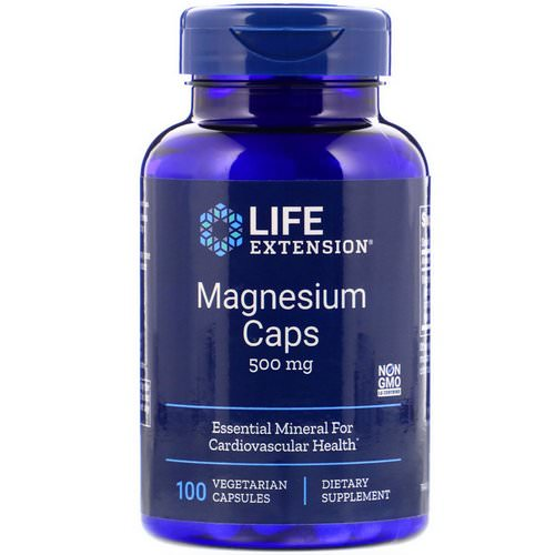 Life Extension, Magnesium Caps, 500 mg, 100 Vegetarian Capsules Review