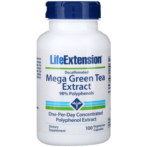 Life Extension, Mega Green Tea Extract, Decaffeinated, 100 Vegetarian Capsules Review