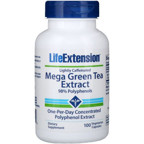 Life Extension, Mega Green Tea Extract, Lightly Caffeinated, 100 Vegetarian Capsules Review