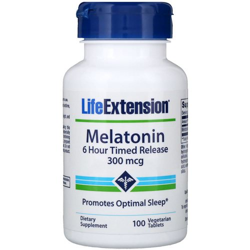 Life Extension, Melatonin, 6 Hour Timed Release, 300 mcg, 100 Vegetarian Tablets Review