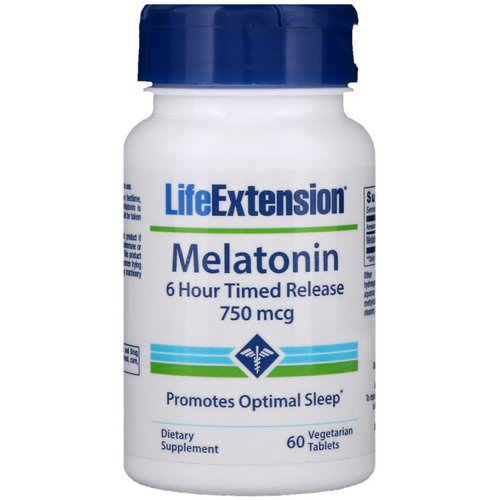 Life Extension, Melatonin, 6 Hour Timed Release, 750 mcg, 60 Vegetarian Tablets Review