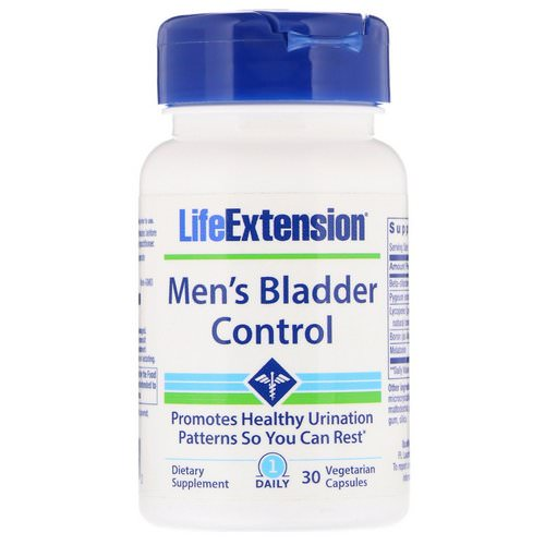 Life Extension, Men's Bladder Control, 30 Vegetarian Capsules Review