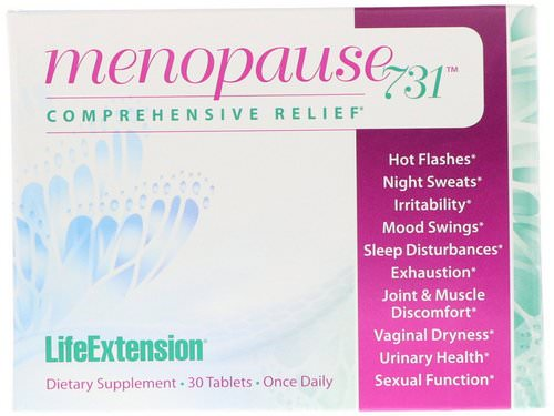 Life Extension, Menopause 731, 30 Tablets Review
