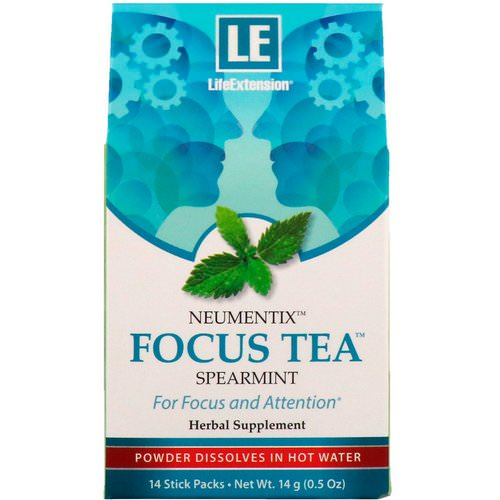 Life Extension, Neumentix, Focus Tea, Spearmint, 14 Stick Packs Review