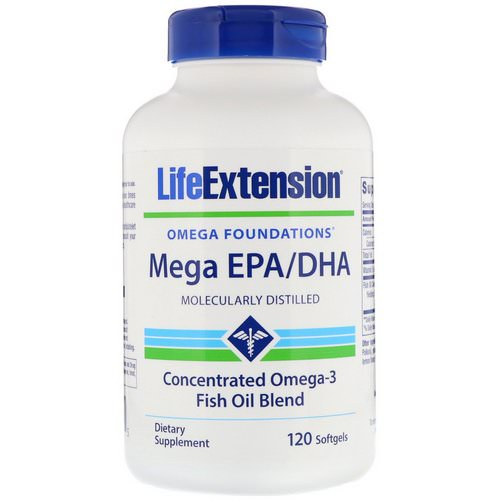Life Extension, Omega Foundations, Mega EPA/DHA, 120 Softgels Review