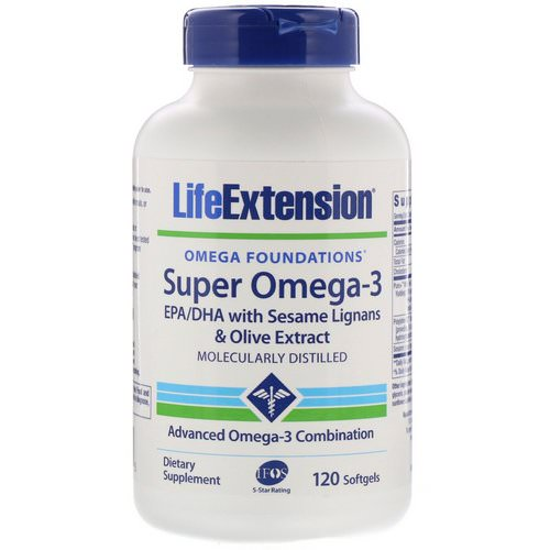 Life Extension, Omega Foundations, Super Omega-3, 120 Softgels Review