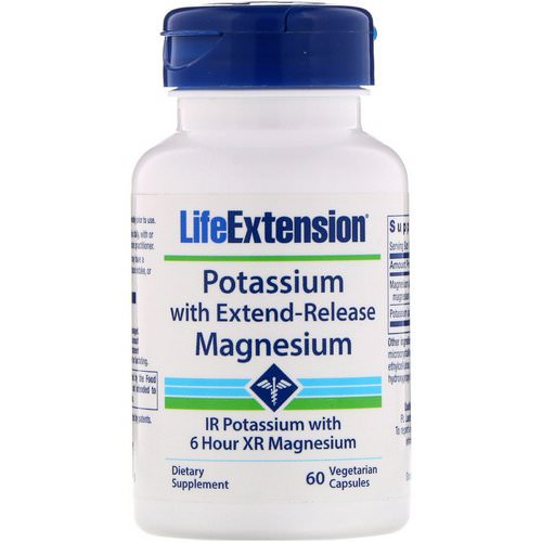 Life Extension, Potassium with Extend-Release Magnesium, 60 Vegetarian Capsules Review