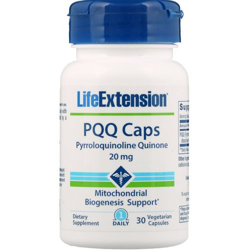 Life Extension, PQQ Caps, 20 mg, 30 Vegetarian Capsules Review