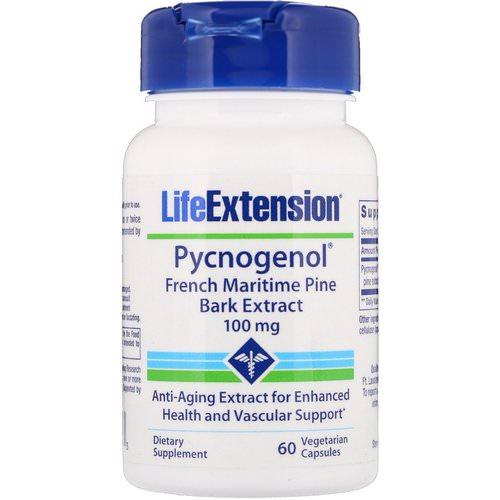 Life Extension, Pycnogenol, French Maritime Pine Bark Extract, 100 mg, 60 Vegetarian Capsules Review