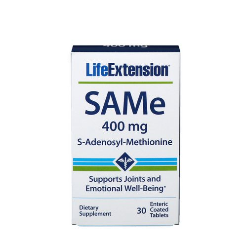 Life Extension, SAMe, S-Adenosyl-Methionine, 400 mg, 30 Enteric Coated Tablets Review