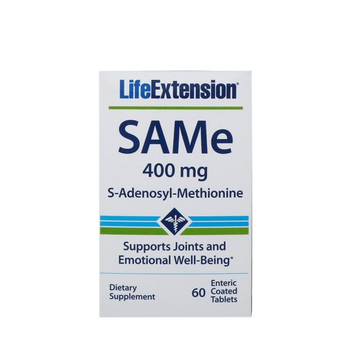 Life Extension, SAMe, S-Adenosyl-Methionine, 400 mg, 60 Enteric Coated Tablets Review