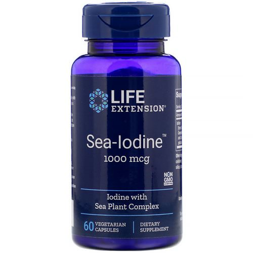 Life Extension, Sea-Iodine, 1,000 mcg, 60 Vegetarian Capsules Review