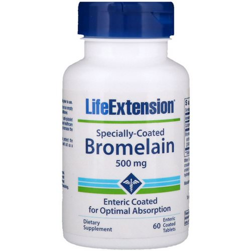Life Extension, Specially-Coated Bromelain, 500 mg, 60 Enteric Coated Tablets Review