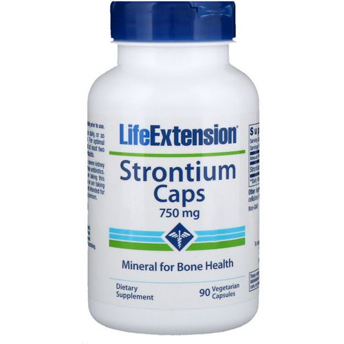 Life Extension, Strontium Caps, Mineral for Bone Health, 750 mg, 90 Vegetarian Capsules Review