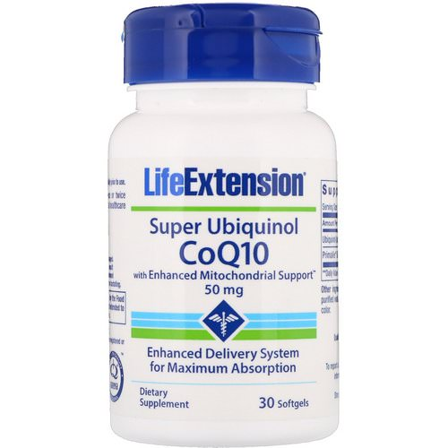 Life Extension, Super Ubiquinol CoQ10 with Enhanced Mitochondrial Support, 50 mg, 30 Softgels Review