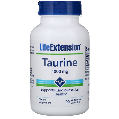 Life Extension, Taurine, 1000 mg, 90 Vegetarian Capsules Review