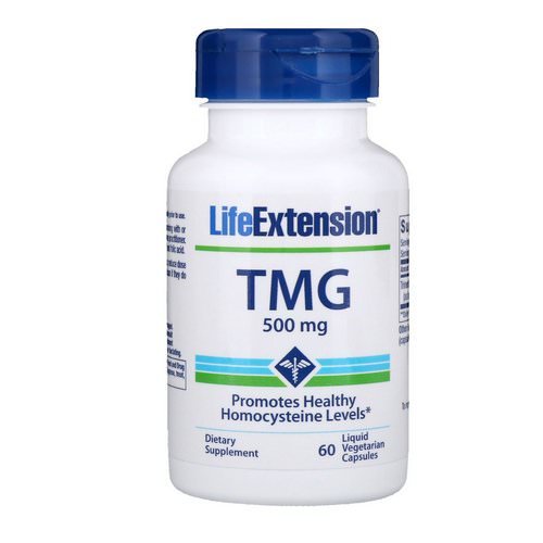Life Extension, TMG, 500 mg, 60 Liquid Vegetarian Capsules Review