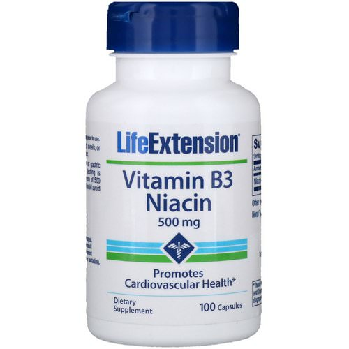Life Extension, Vitamin B3 Niacin, 500 mg, 100 Capsules Review