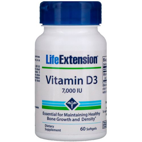 Life Extension, Vitamin D3, 7,000 IU, 60 Softgels Review