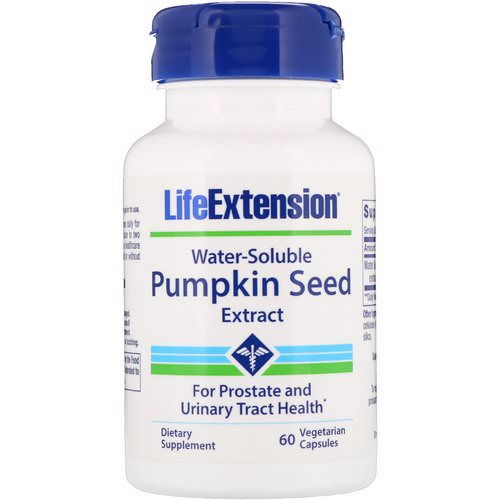 Life Extension, Water-Soluble Pumpkin Seed Extract, 60 Vegetarian Capsules Review