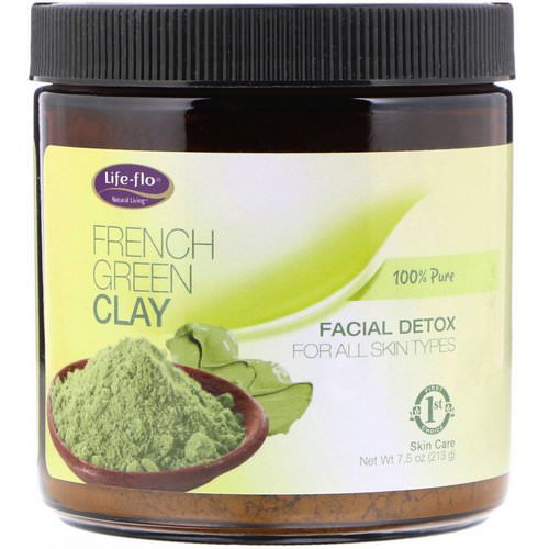Life-flo, French Green Clay, Facial Detox, 7.5 oz (213 g) Review