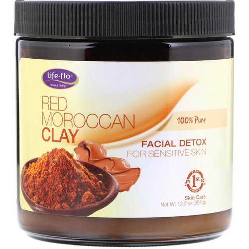Life-flo, Red Moroccan Clay, Facial Detox, 12.5 oz (354 g) Review