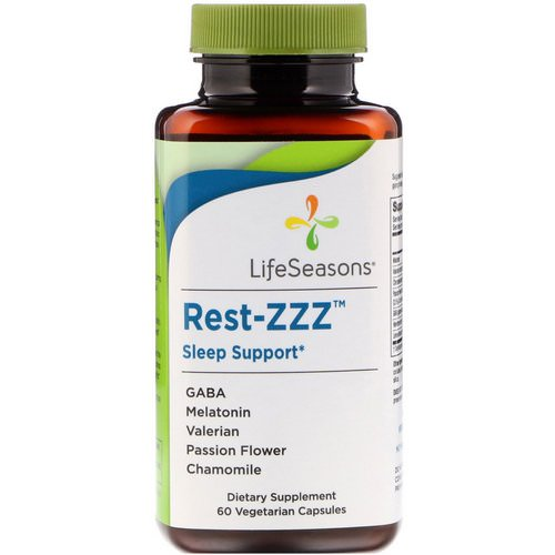 LifeSeasons, Rest-ZZZ Sleep Support, 60 Vegetarian Capsules Review