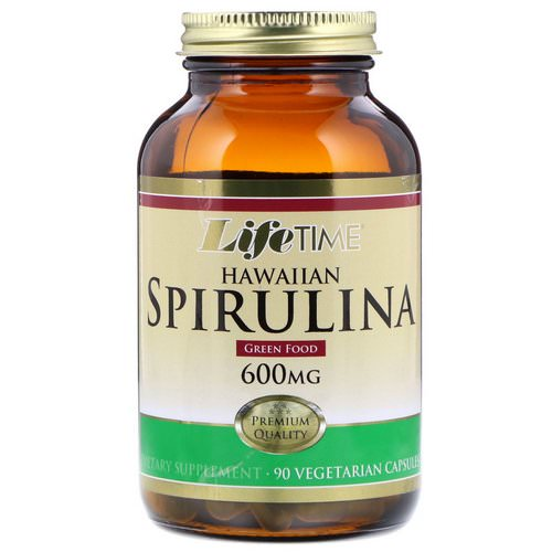 LifeTime Vitamins, Hawaiian Spirulina, 600 mg, 90 Vegetarian Capsules Review