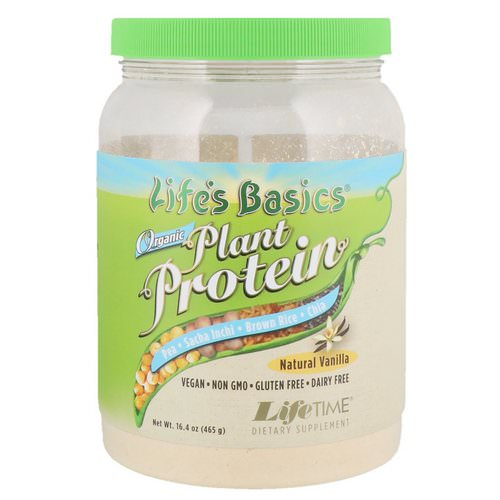 LifeTime Vitamins, Life's Basics, Organic Plant Protein, Natural Vanilla, 16.4 oz (465 g) Review