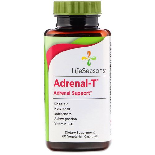 LifeSeasons, Adrenal-T, Adrenal Support, 60 Vegetarian Capsules Review