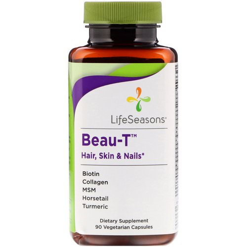 LifeSeasons, Beau-T, Hair, Skin & Nails, 90 Vegetarian Capsules Review