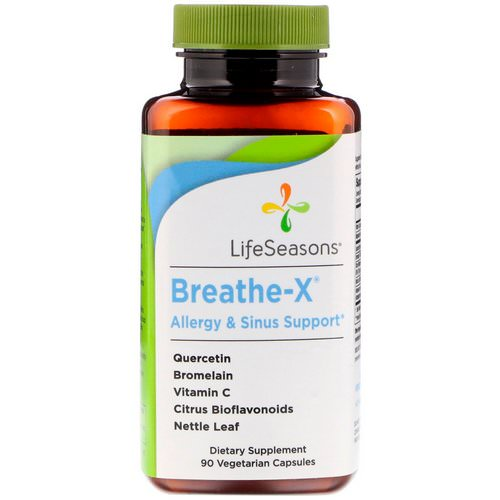 LifeSeasons, Breathe-X Allergy & Sinus Support, 90 Vegetarian Capsules Review