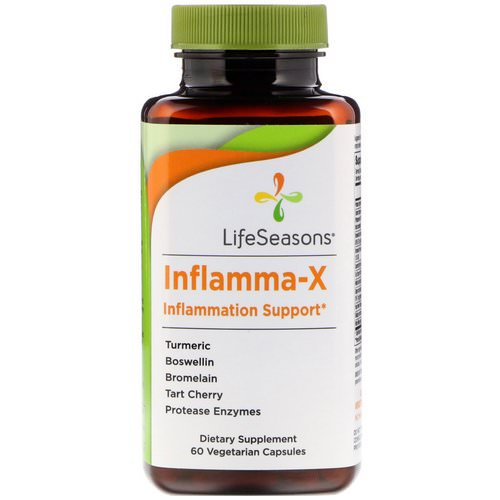 LifeSeasons, Inflamma-X, Inflammation Support, 60 Vegetarian Capsules Review