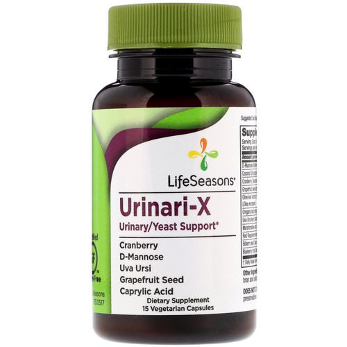 LifeSeasons, Urinari-X Urinary/Yeast Support, 15 Vegetarian Capsules Review