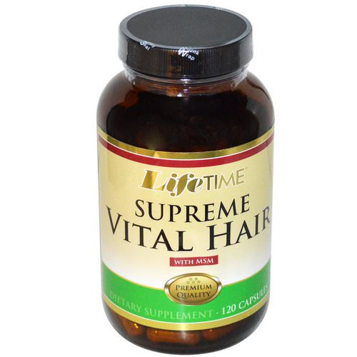LifeTime Vitamins, Supreme Vital Hair with MSM, 120 Capsules Review